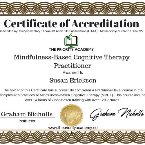 Certificate Mindfulness CBT-1