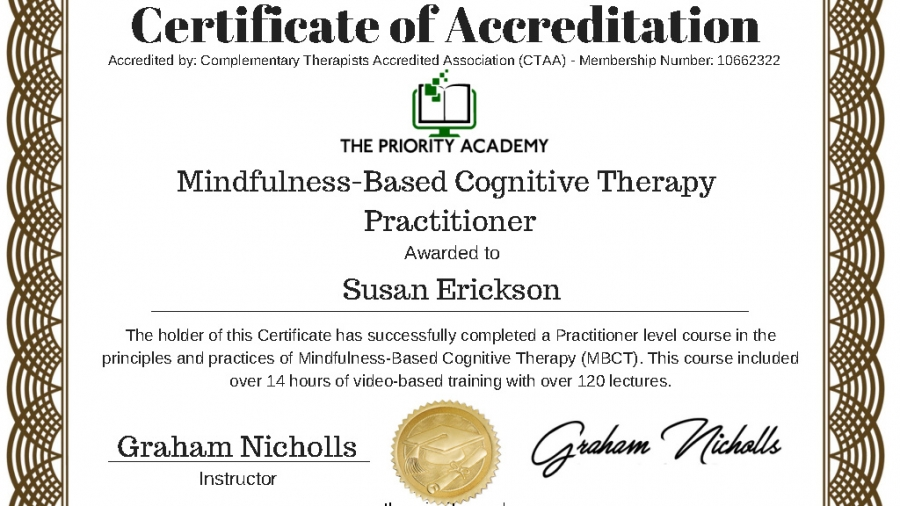 Certificate Mindfulness CBT-1